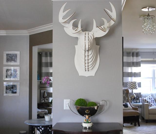 large white deer head