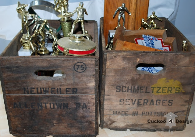Neuweiler crates with old trophies