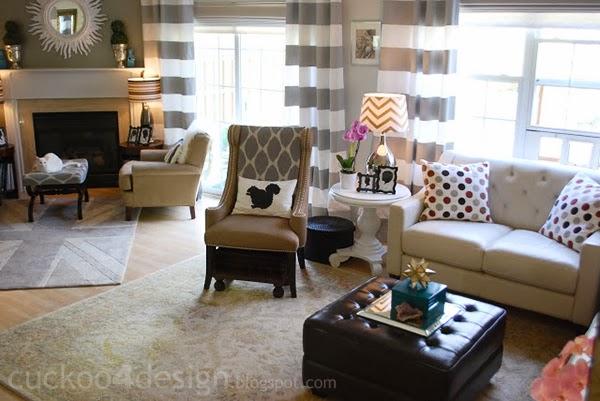 living room with cat door window