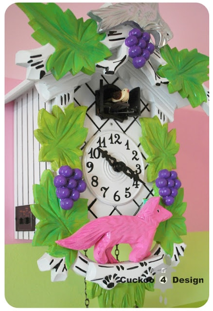 colorful cuckoo clock for little girl's room