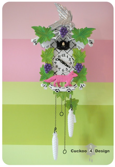 painted colorful cuckoo clock