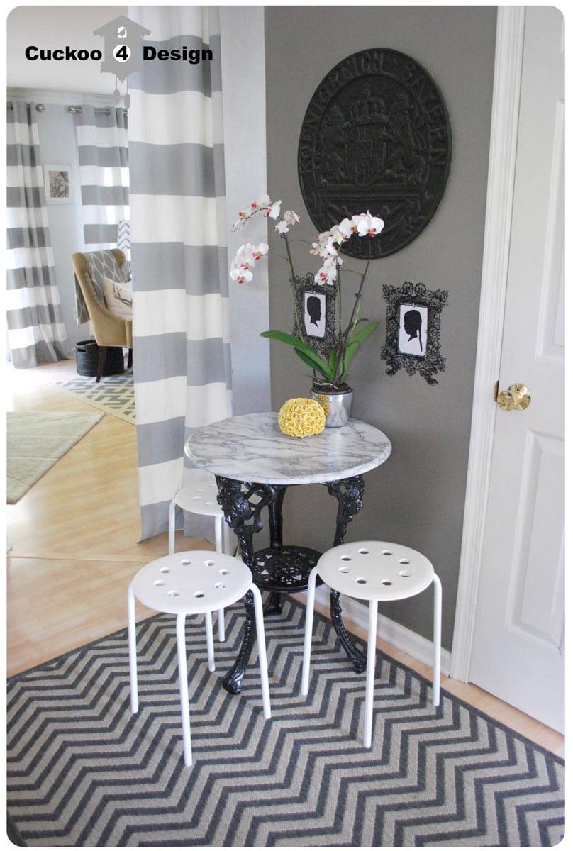 new chevron rug cuckoo4design grey chevron zigzag rug with grey horizontal striped curtains