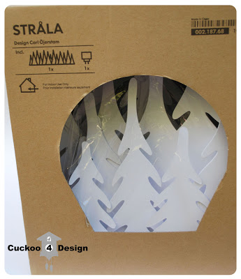 Ikea Stråla white forest light