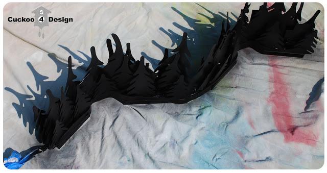 Ikea Stråla spray painted black