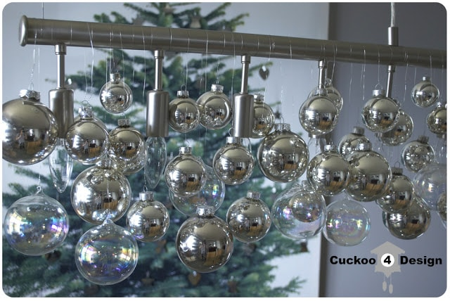 DIY Christmas cellula chandelier