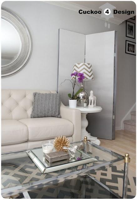 DIY grey ombre room divider