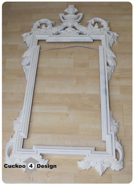 mirror frame primed with Kilz primer