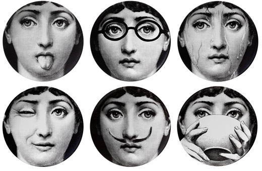 theme and variations (Terma e Variazion) plates by Piero Fornasetti