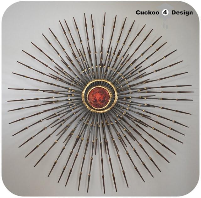 porcupine sunburst hybrid metal wallart