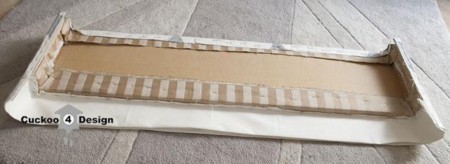 DIY fabric covered window cornice valance