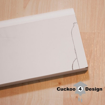 tracing molding for coping saw