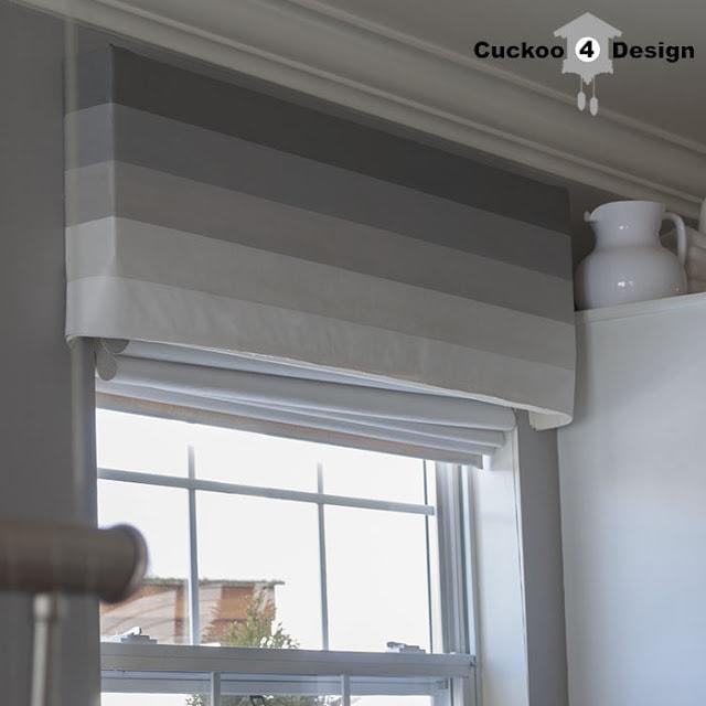 DIY painted window valance by cuckoo4design