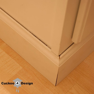 base molding around standard white vanity