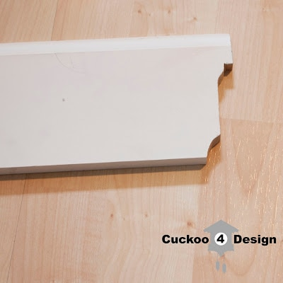 molding cut with coping saw