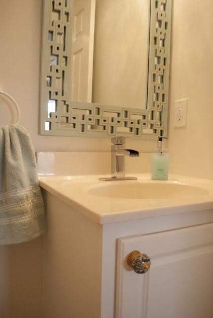 greek key vanity mirror