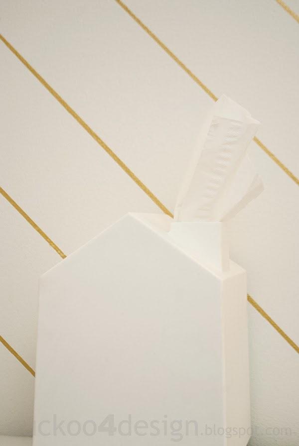 Sharpie striped bathroom walls