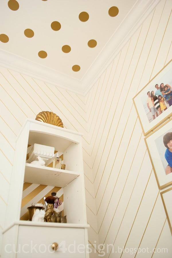 Oracal 631 gold metallic polka dot wall decals