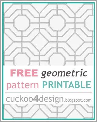 free printable geometric pattern
