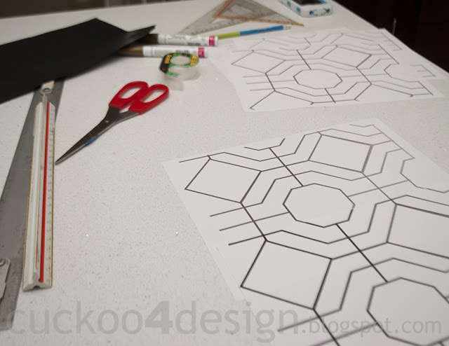 DIY wallpaper pattern