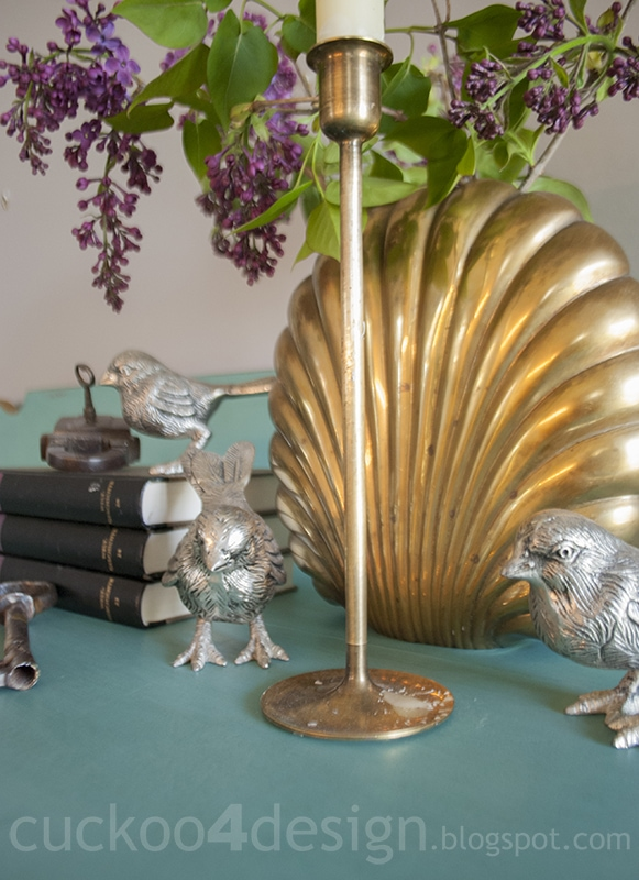 brass accents paired with silver