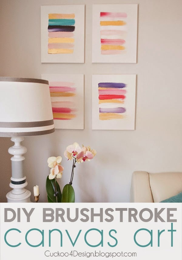 colorful DIY brushstroke painting