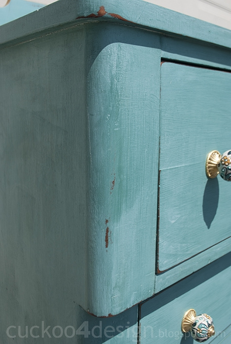 pretty blue green turquoise handmade country dresser