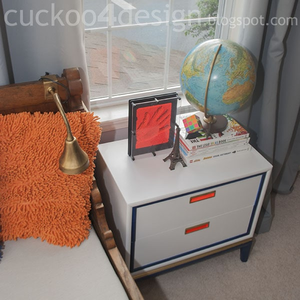 midcentury modern nightstand makeover by cuckoo4design