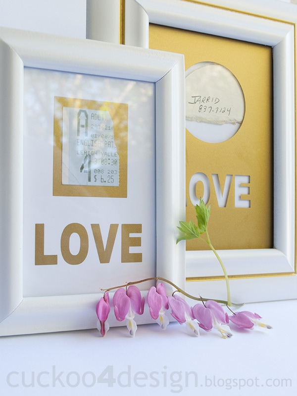 white gold frame makeover with memorabilia and mementos