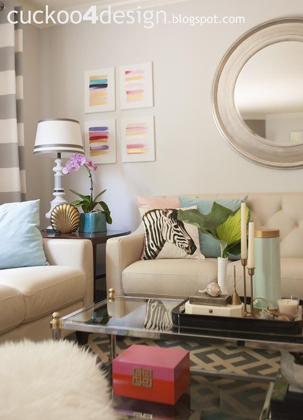 H&M zebra pillow in summer living room by cuckoo4design
