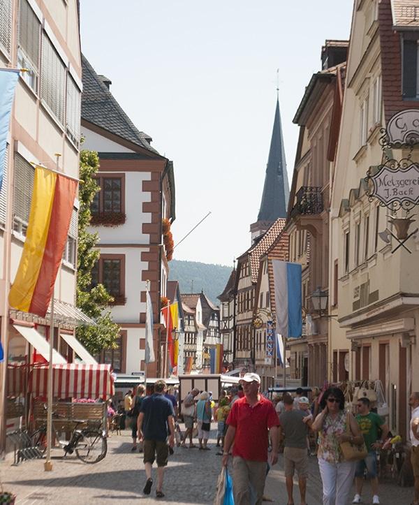 small cute medieval Bavarian town