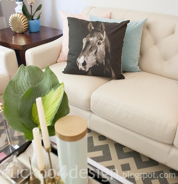 H&M black horse pillow