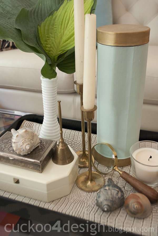 simple traveling coffee table tray vignette by cuckoo4design