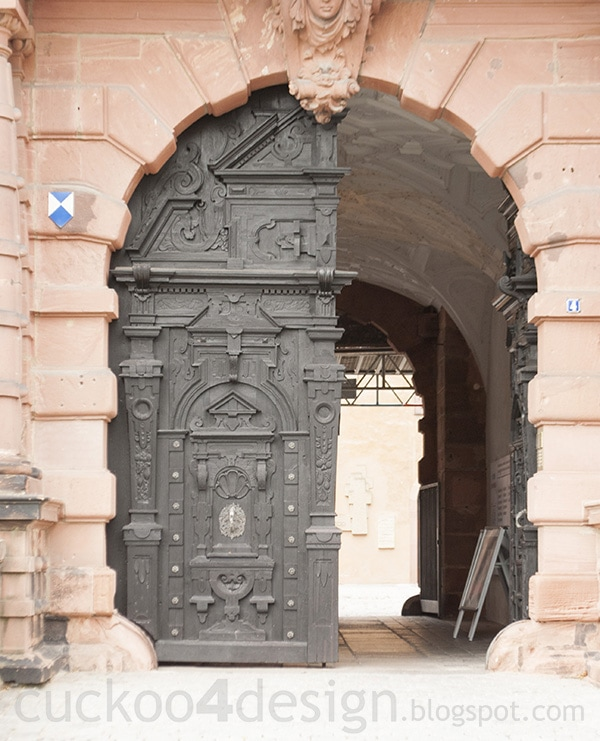 gate of the castle in Aschaffenburg
