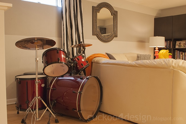 basement drum set