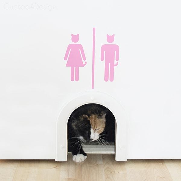 cat litter box sign by Cuckoo4Design