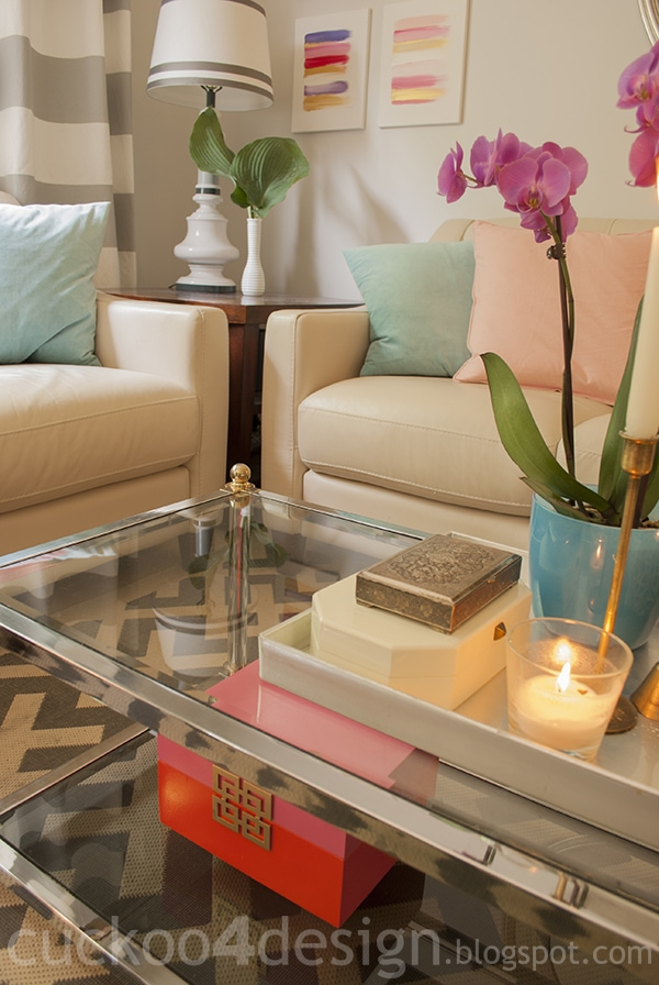 coffee table vignette by cuckoo4design