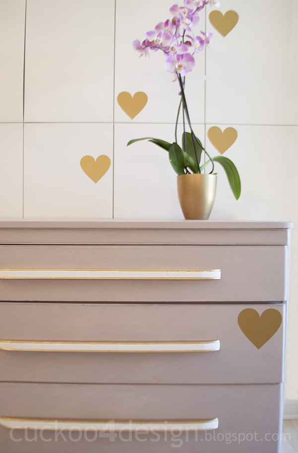 gold vinyl heart wall decals by Cukoo4Design
