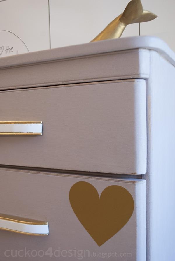 modern oak dresser in Annie Sloan Paloma Chalk Paint by Cuckoo4Design