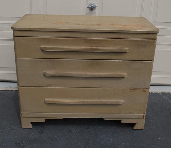 oak dresser before