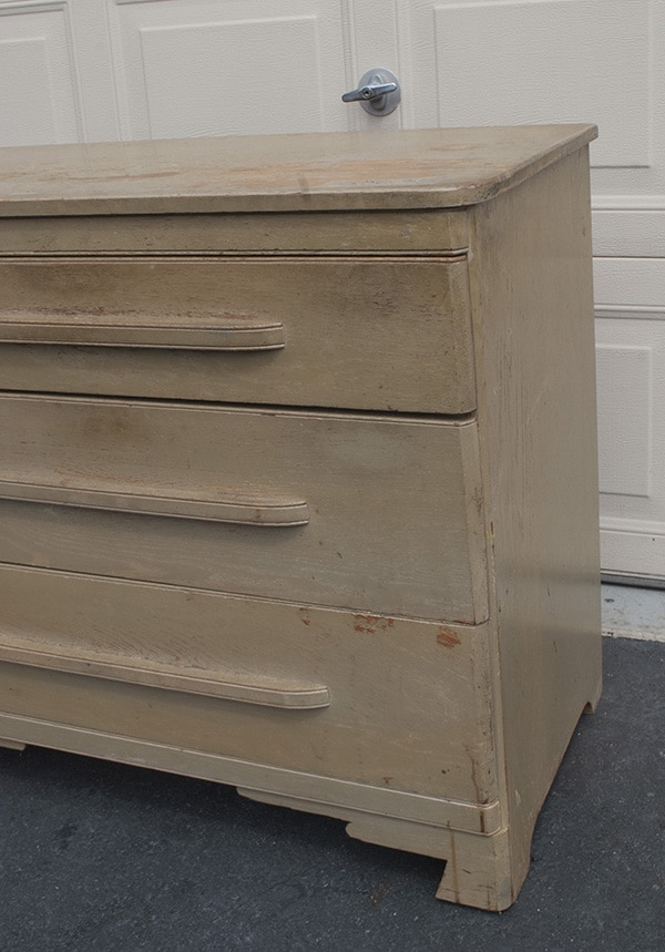 yucky oak dresser before