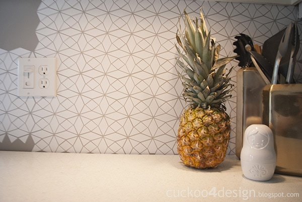 DIY Vinyl Kitchen Tile Wall Decal