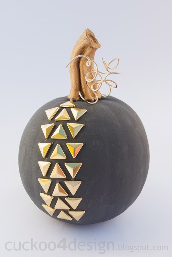 gold studded Annie Sloan Graphite pumpkin cuckoo4design
