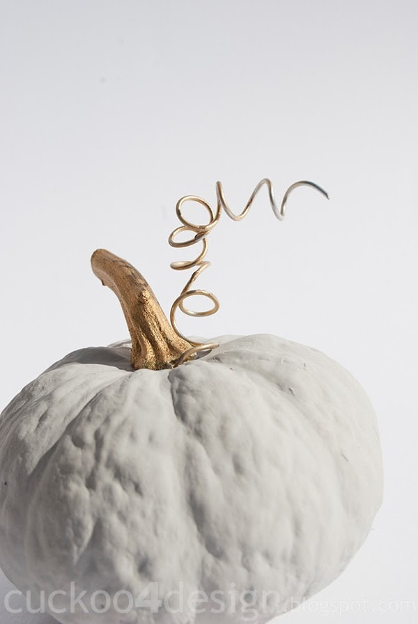 Annie Sloan Paris Grey and gold pumpkin by cuckoo4design