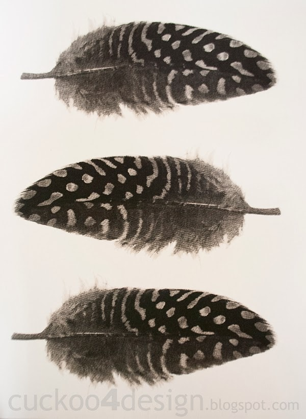 DIY feather canvas art by Cuckoo4Design