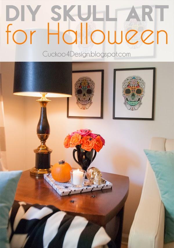 DIY mexican skull art for Halloween by Cuckoo4Design