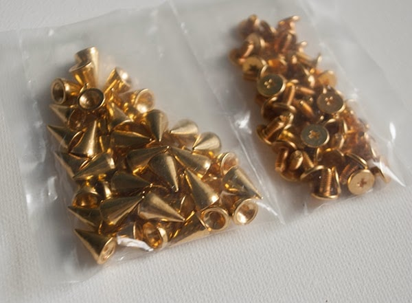 gold cone spike studds