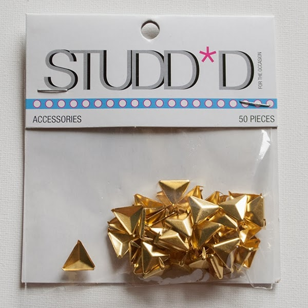 gold triangle studds