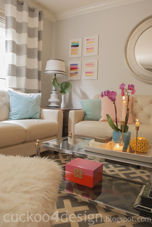 Attractive Pink Orange And Gold Box Makeover Cuckoo4design. Gold And Pink Living Room  ... Part 24