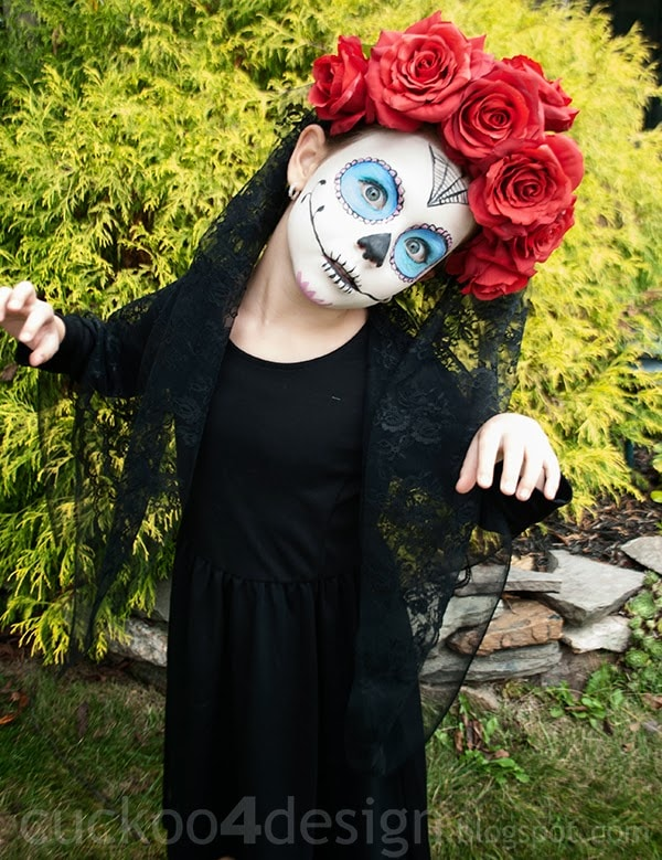 Easy Sugar Skull Halloween Costume - Cuckoo4Design