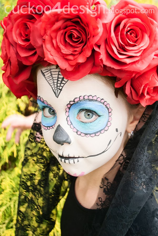 sugar skull little girl Halloween costume